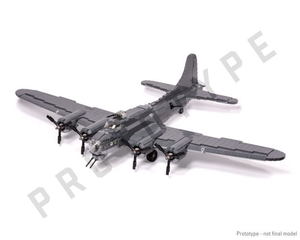 First Look: Brickmania's Upcoming B-17G LEGO Model Kit [Video]