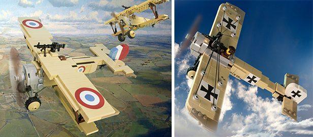 Brickmania Releases Nieuport 11, Fokker E III LEGO Model Kits