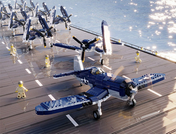 Brickmania Releases 1/35 F4U Corsair LEGO Model Kit