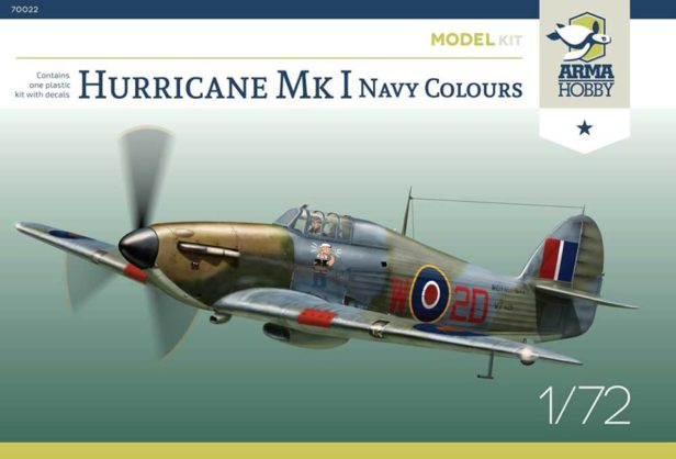 """Arma Hobby Releases New Hurricane Mk I """"Navy Colours"""" Model Kit"""